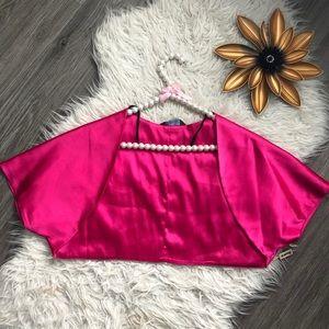 Hot Pink Satin Bolero Jacket BNWT